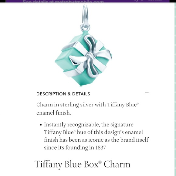 a6bc7a3cd1408 Tiffany & Co. Gift Box Charm- Authentic